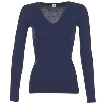 Textil Ženy Trička s dlouhými rukávy Petit Bateau LEOSA Tmavě modrá