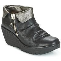 Boty Ženy Kotníkové boty Fly London YOXI Černá / Stříbřitá