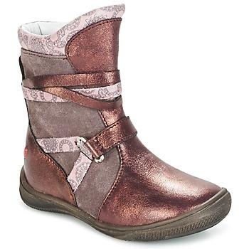 Boty Dívčí Kotníkové boty GBB ROSANA Růžová / Bordó