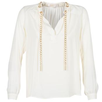 Textil Ženy Halenky / Blůzy MICHAEL Michael Kors SLIT L/S CHAIN Krémová
