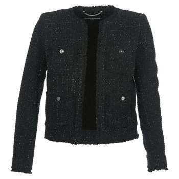 Textil Ženy Saka / Blejzry MICHAEL Michael Kors FRAY TWD 4PKT JKT Černá / Stříbrná