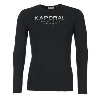 Textil Muži Trička s dlouhými rukávy Kaporal PONIO Černá