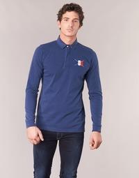 Textil Muži Polo s dlouhými rukávy Serge Blanco POCHON Tmavě modrá