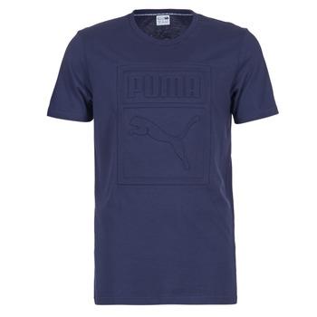 Textil Muži Trička s krátkým rukávem Puma ARCHIVE EMBOSSED LOGO TEE Tmavě modrá