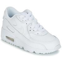 Boty Chlapecké Nízké tenisky Nike AIR MAX 90 LEATHER PRE-SCHOOL Bílá