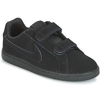 Nike Tenisky Dětské COURT ROYALE PRE-SCHOOL - Černá