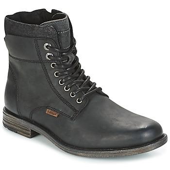Boty Muži Kotníkové boty Levi's EMERSON COLLAR Černá