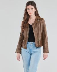 Textil Ženy Kožené bundy / imitace kůže Oakwood 62065 Zlatohnědá