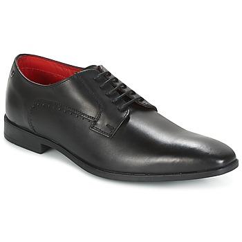 Boty Muži Šněrovací společenská obuv Base London PENNY Černá