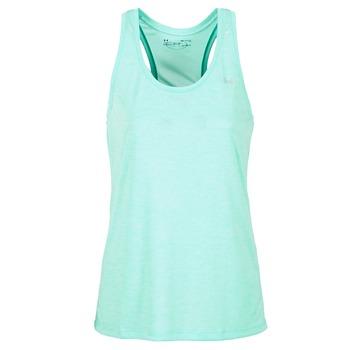 Textil Ženy Tílka / Trička bez rukávů  Under Armour TECH TANK - SOLID Zelená