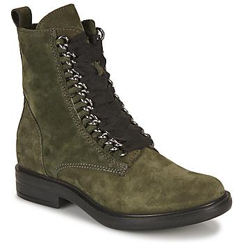 Mjus Kotníkové boty CAFE CHAIN - Zelená