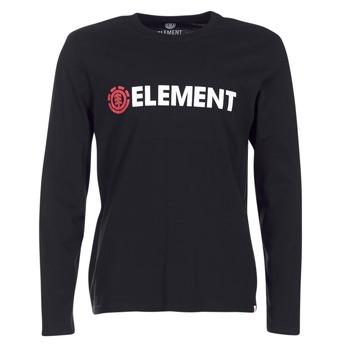 Textil Muži Trička s dlouhými rukávy Element BLAZIN LS Černá