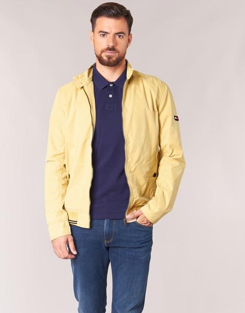 Textil Muži Bundy Tommy Jeans THDM BASIC HARRINGTON Béžová
