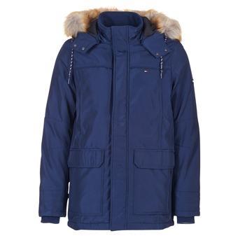 Textil Muži Parky Tommy Jeans THDM TECH PARKA 27 Tmavě modrá