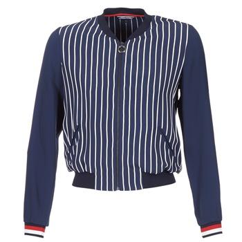 Textil Ženy Saka / Blejzry Tommy Hilfiger NALOME GLOBAL STP BOMBER Tmavě modrá / Bílá / Červená