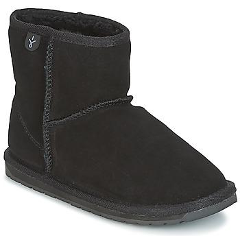 Boty Dívčí Kotníkové boty EMU WALLABY MINI Černá