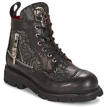 Boty Kotníkové boty New Rock MORTY Černá