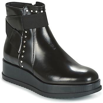 Boty Ženy Kotníkové boty Tosca Blu CIVETTA ABRASIVATO Černá