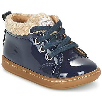 Boty Dívčí Kotníkové boty Shoo Pom BOUBA WOOL Tmavě modrá / Béžová