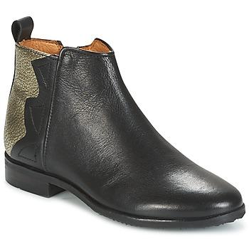 Boty Dívčí Kotníkové boty Adolie ODEON WILD Černá / Platinová šedá