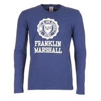 Textil Muži Trička s dlouhými rukávy Franklin & Marshall DESTU Tmavě modrá