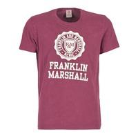Textil Muži Trička s krátkým rukávem Franklin & Marshall GRAVI Bordó