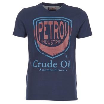 Textil Muži Trička s krátkým rukávem Petrol Industries TIRCO Tmavě modrá