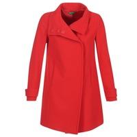 Textil Ženy Kabáty Benetton MERCRA Červená