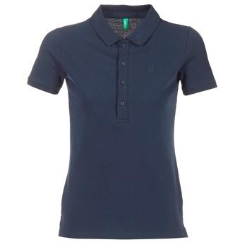 Textil Ženy Polo s krátkými rukávy Benetton MAJOU Tmavě modrá