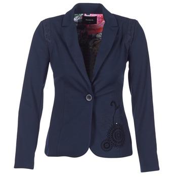 Textil Ženy Saka / Blejzry Desigual GROFA Tmavě modrá
