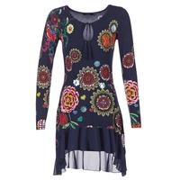 Textil Ženy Krátké šaty Desigual GRUFI Modrá