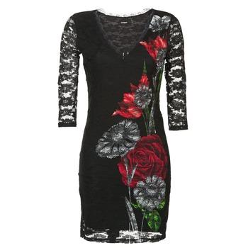 Textil Ženy Krátké šaty Desigual GRAFE Černá