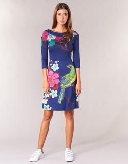 Textil Ženy Krátké šaty Desigual MARTA Modrá