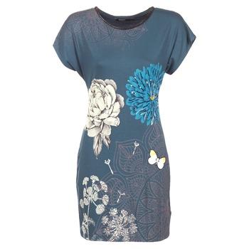 Textil Ženy Krátké šaty Desigual MARTI Modrá
