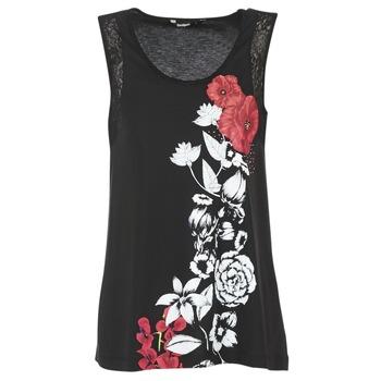 Textil Ženy Tílka / Trička bez rukávů  Desigual MAGEIS Černá