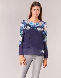 Textil Ženy Halenky / Blůzy Desigual TAMA Modrá