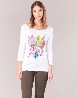 Textil Ženy Trička s dlouhými rukávy Desigual TERON Bílá