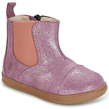 Boty Dívčí Kotníkové boty Citrouille et Compagnie HUETTE Růžová