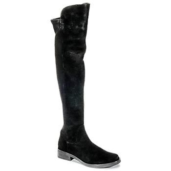 Boty Ženy Vysoké kozačky nad kolena Buffalo NUPAN Černá