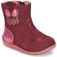 Boty Dívčí Kotníkové boty Kickers BRETZELLE Růžová
