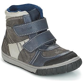 Boty Chlapecké Zimní boty Kickers SITROUILLE Šedá / Modrá
