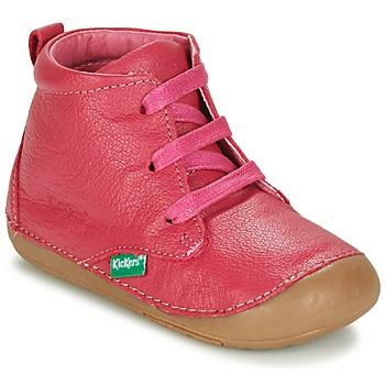 Boty Dívčí Kotníkové boty Kickers SONICE Fuchsiová