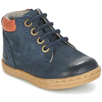 Boty Chlapecké Kotníkové boty Kickers TACKLAND Tmavě modrá