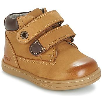 Boty Chlapecké Kotníkové boty Kickers TACKEASY Velbloudí hnědá