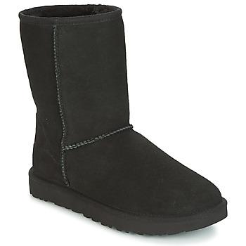 Boty Ženy Kotníkové boty UGG CLASSIC SHORT II Černá