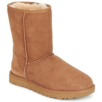 Boty Ženy Kotníkové boty UGG CLASSIC SHORT II Hnědá