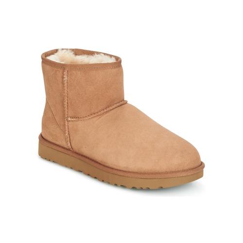 Boty Ženy Kotníkové boty UGG CLASSIC MINI II Velbloudí hnědá
