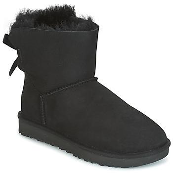 Boty Ženy Kotníkové boty UGG MINI BAILEY BOW II Černá