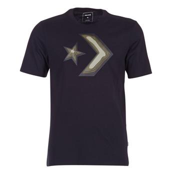 Textil Muži Trička s krátkým rukávem Converse DIMENSIONAL LAYER STAR CHEVRON TEE Černá