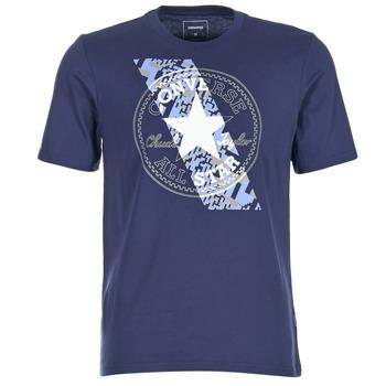Textil Muži Trička s krátkým rukávem Converse CHUCKPATCH CONTRAST SLASH TEE Tmavě modrá